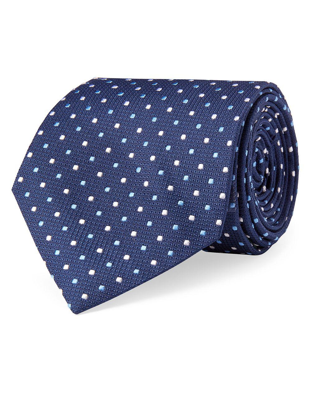 706cce63f09c Lauren By Ralph Lauren Multicolored Pin Dot Silk Tie in Blue for Men ...