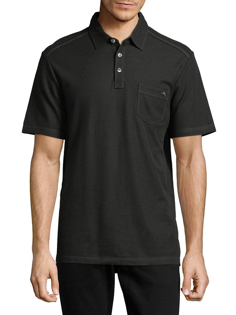 Lyst - Tommy Bahama Pocket Polo in Black for Men 2e77214af