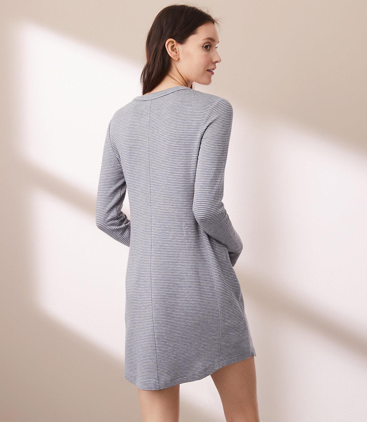 ac9219b1d2ae Lyst - Lou   Grey Striped Signaturesoft Dress in Gray