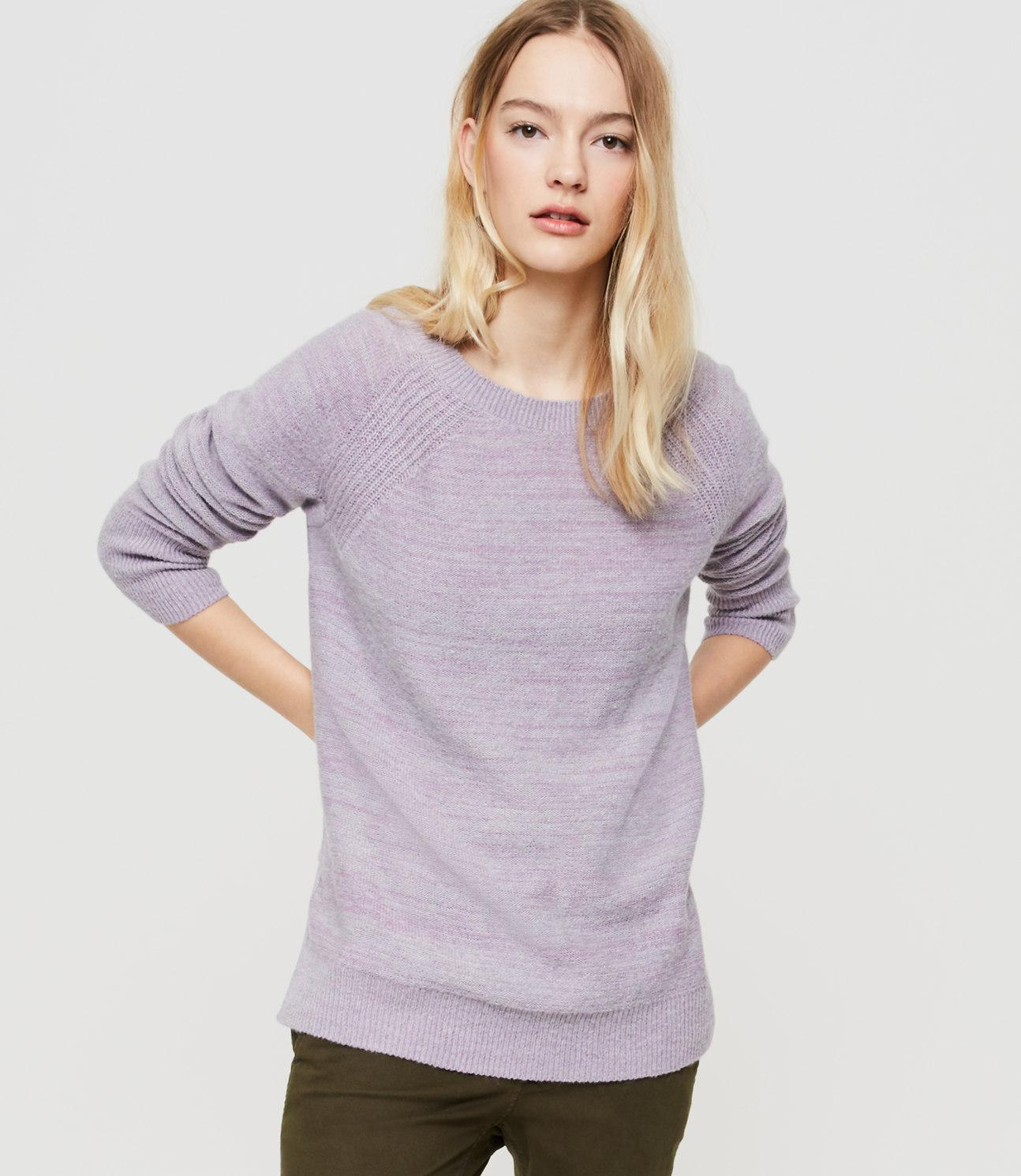 Lou & grey Slitside Sweater Tunic in Purple | Lyst