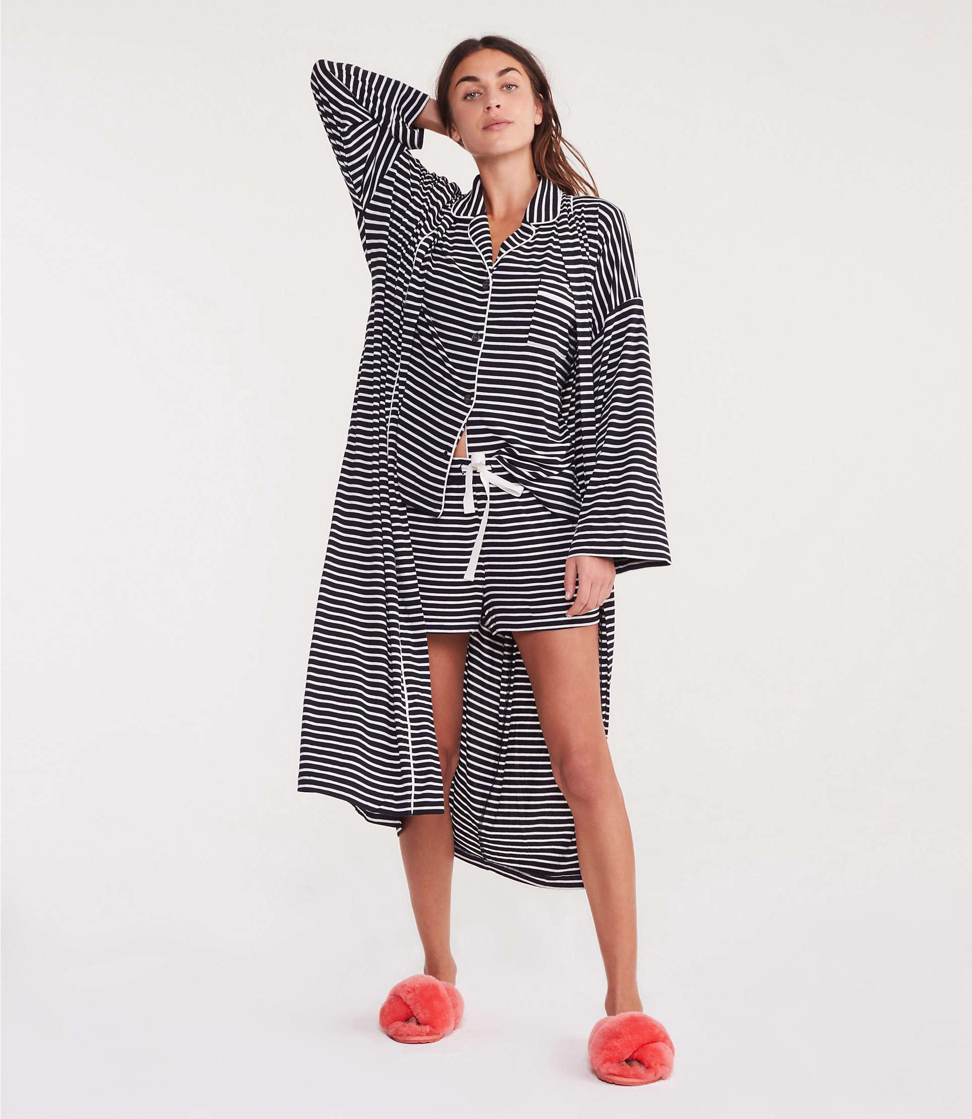 882e898d5e Lyst - Lou & Grey Striped Softened Jersey Pajama Set
