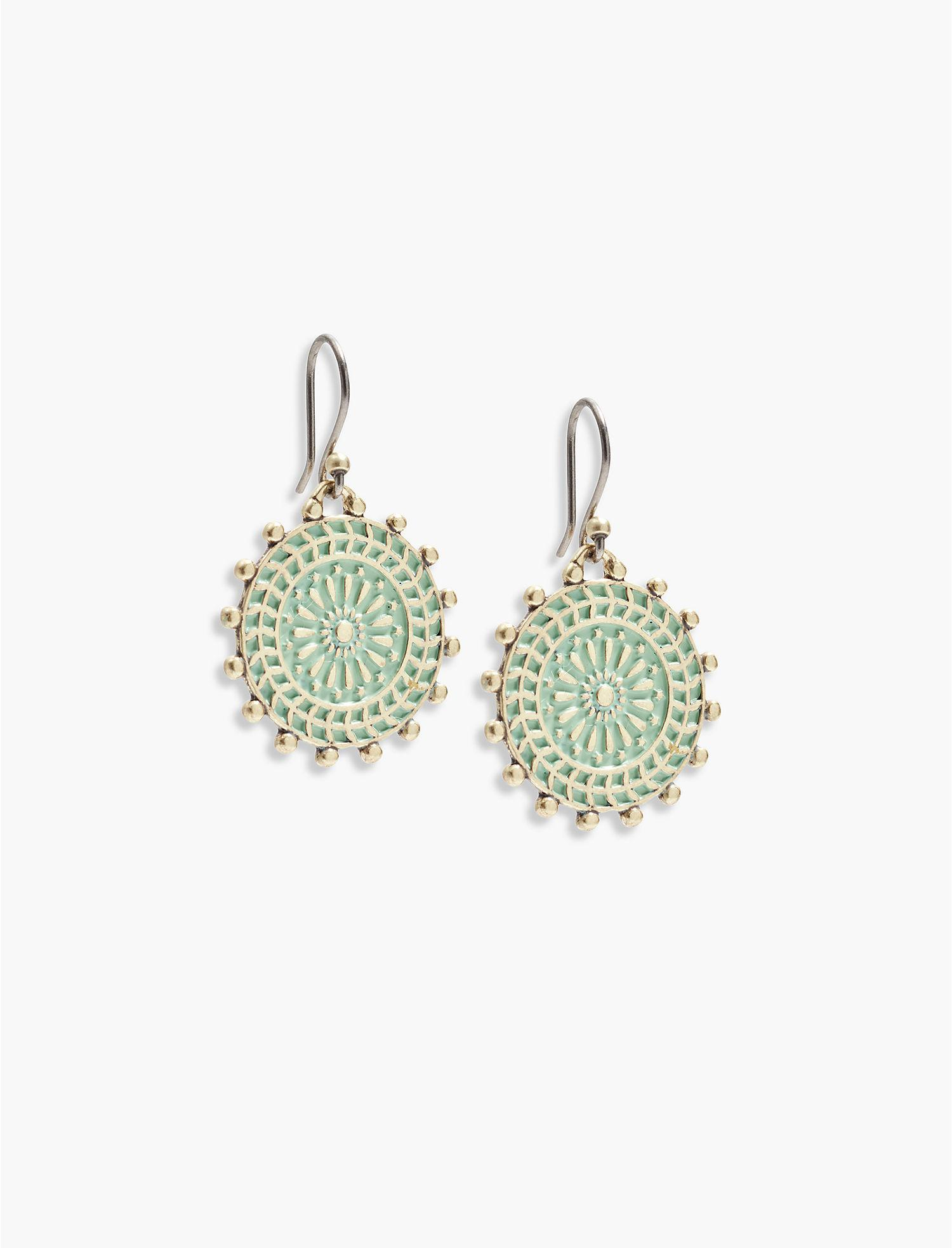 Panacea East-West Drop Earrings w/ Patina Dangles 3If7b85qH6