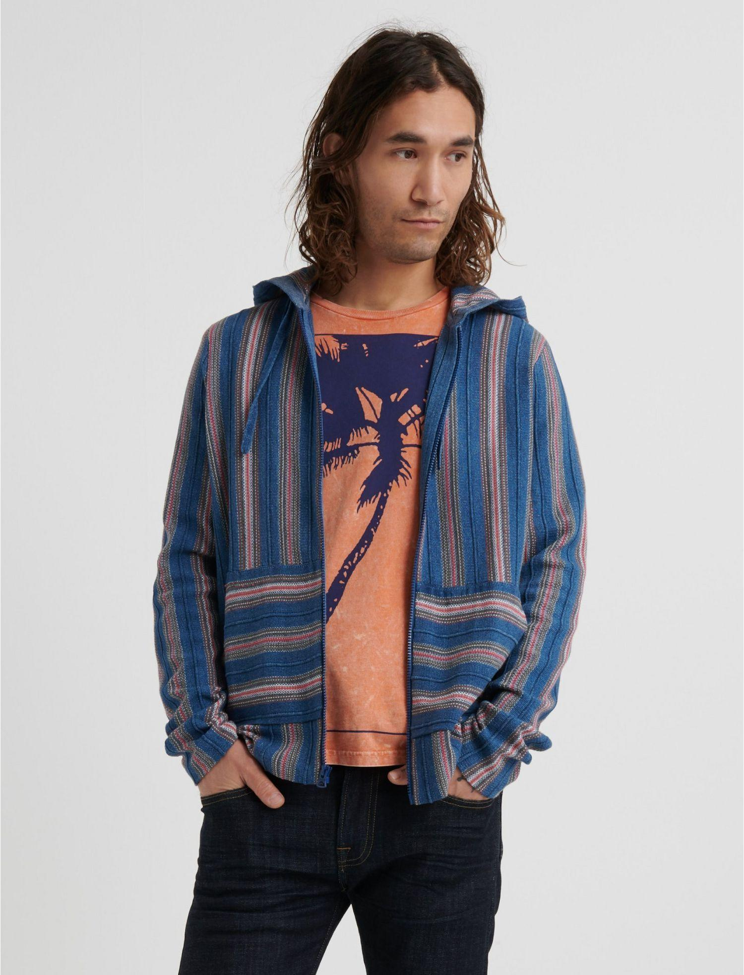 Lucky Brand Cotton Americana Baja Hoodie in Blue for Men ...