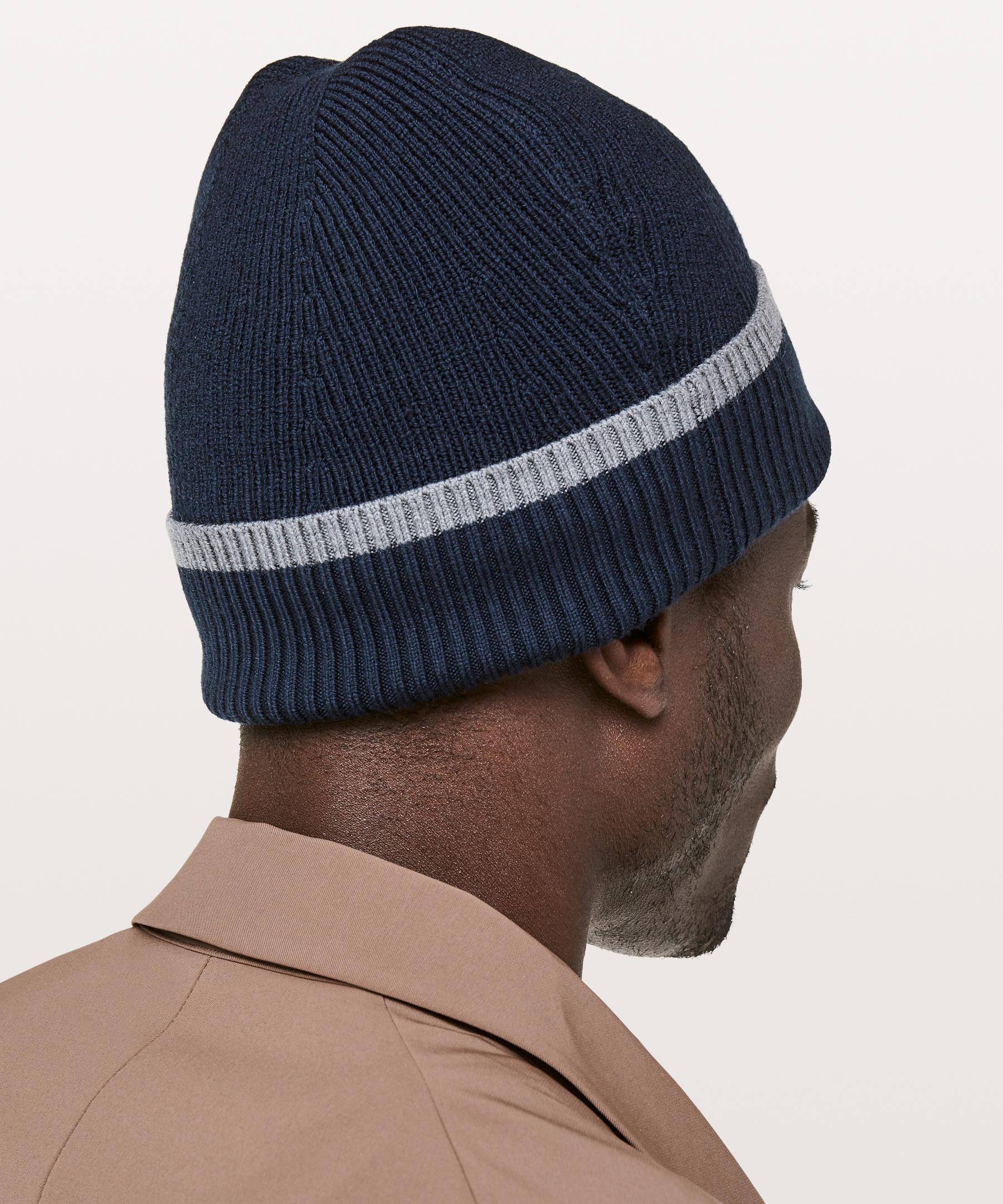 c110a382e9c1a lululemon athletica - Blue Cold Pursuit Knit Beanie for Men - Lyst. View  fullscreen