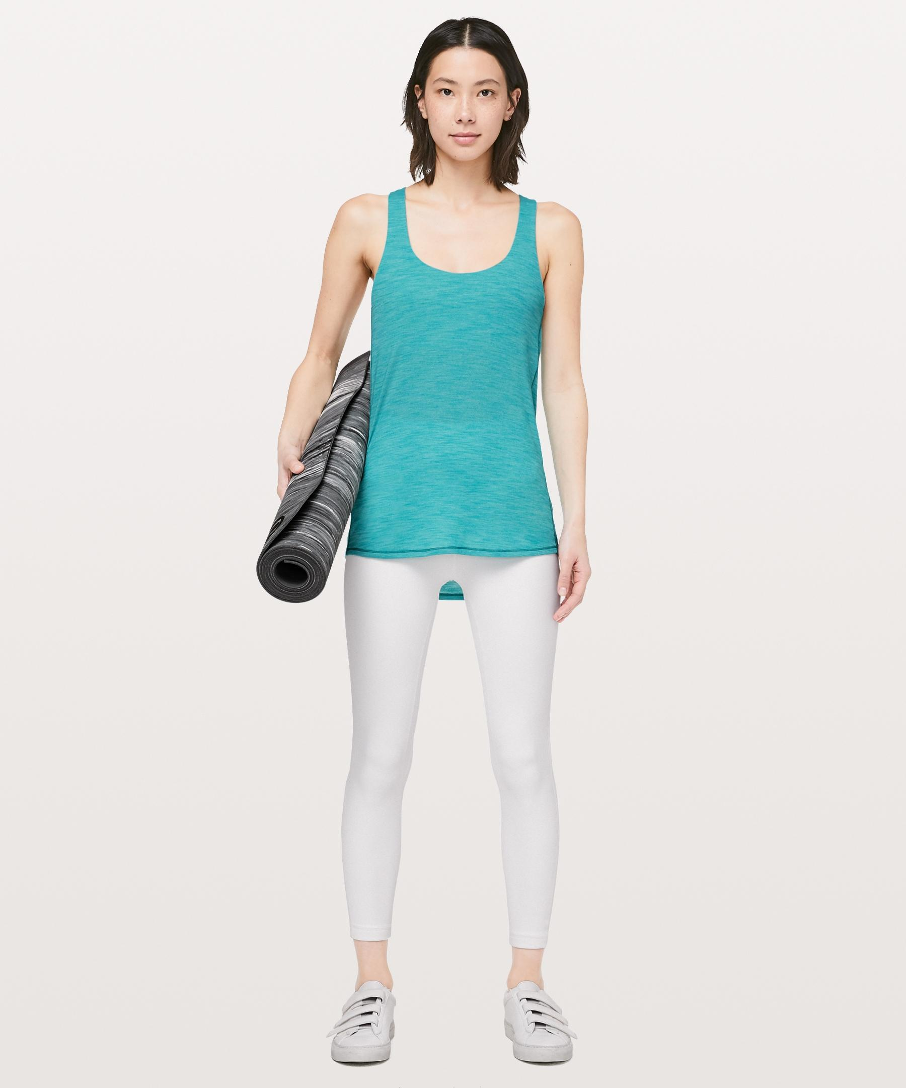 0879bcfc702 lululemon athletica Slay The Studio 2-in-1 Tank  medium Support B c Cup in  Blue - Save 43% - Lyst
