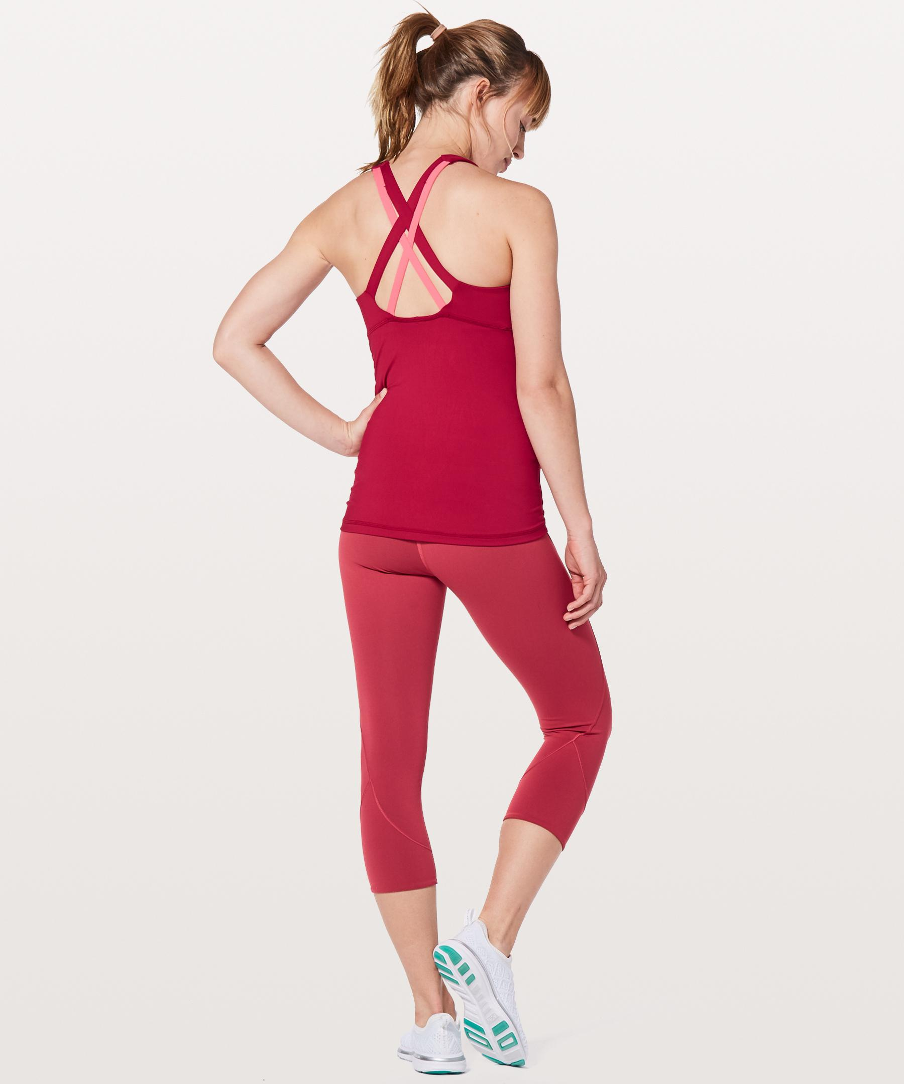 a03c266b0b Lyst - Lululemon Athletica Stash N  Run Tank  medium Support For B c Cup in  Red