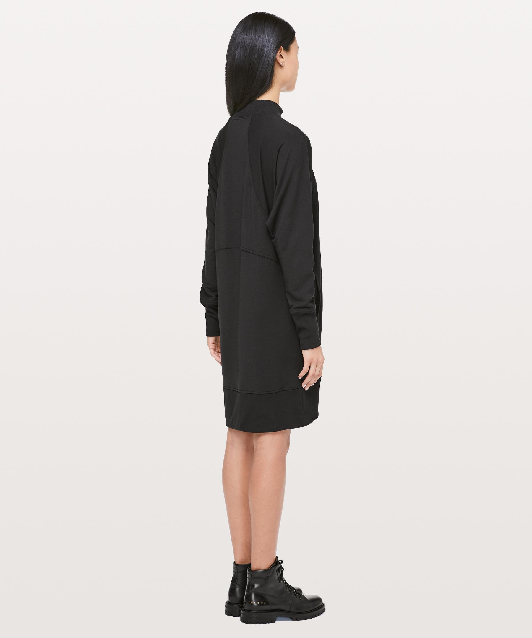 eef47f73bb lululemon athletica Cozy Instincts Dress in Black - Lyst