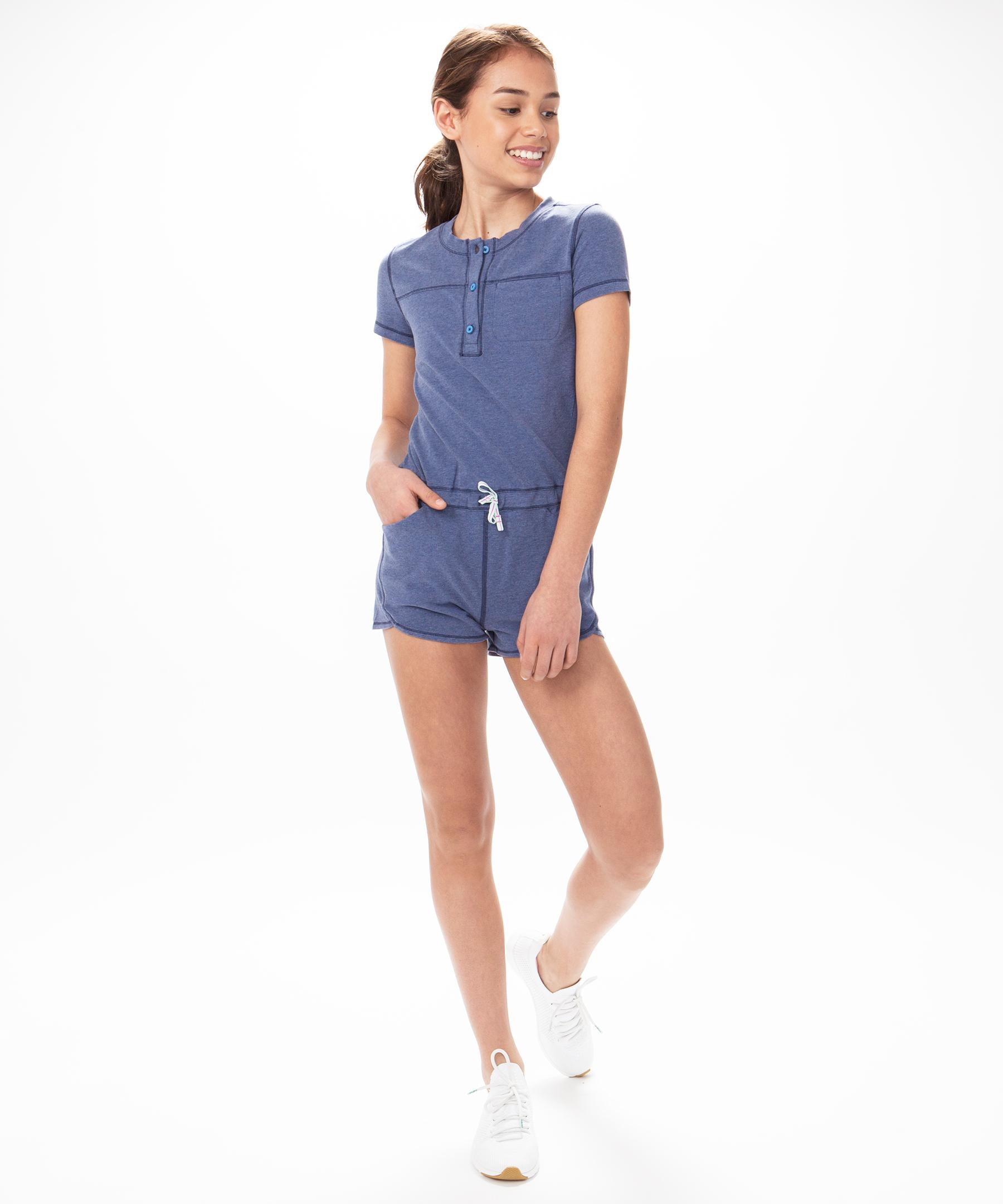 5deba302e17f Lyst - lululemon athletica Jump All In Romper - Girls in Blue