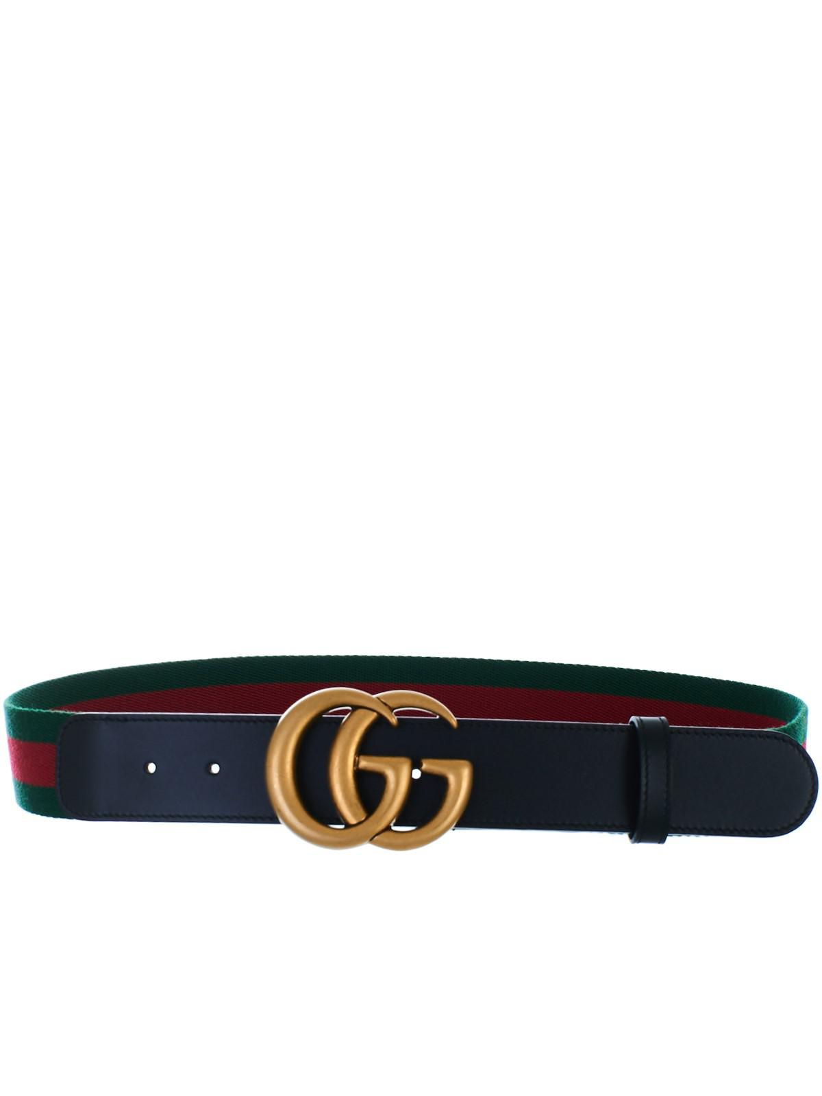 bfaa89edb163 Lyst - Gucci Black GG Marmont Belt in Black - Save 3%