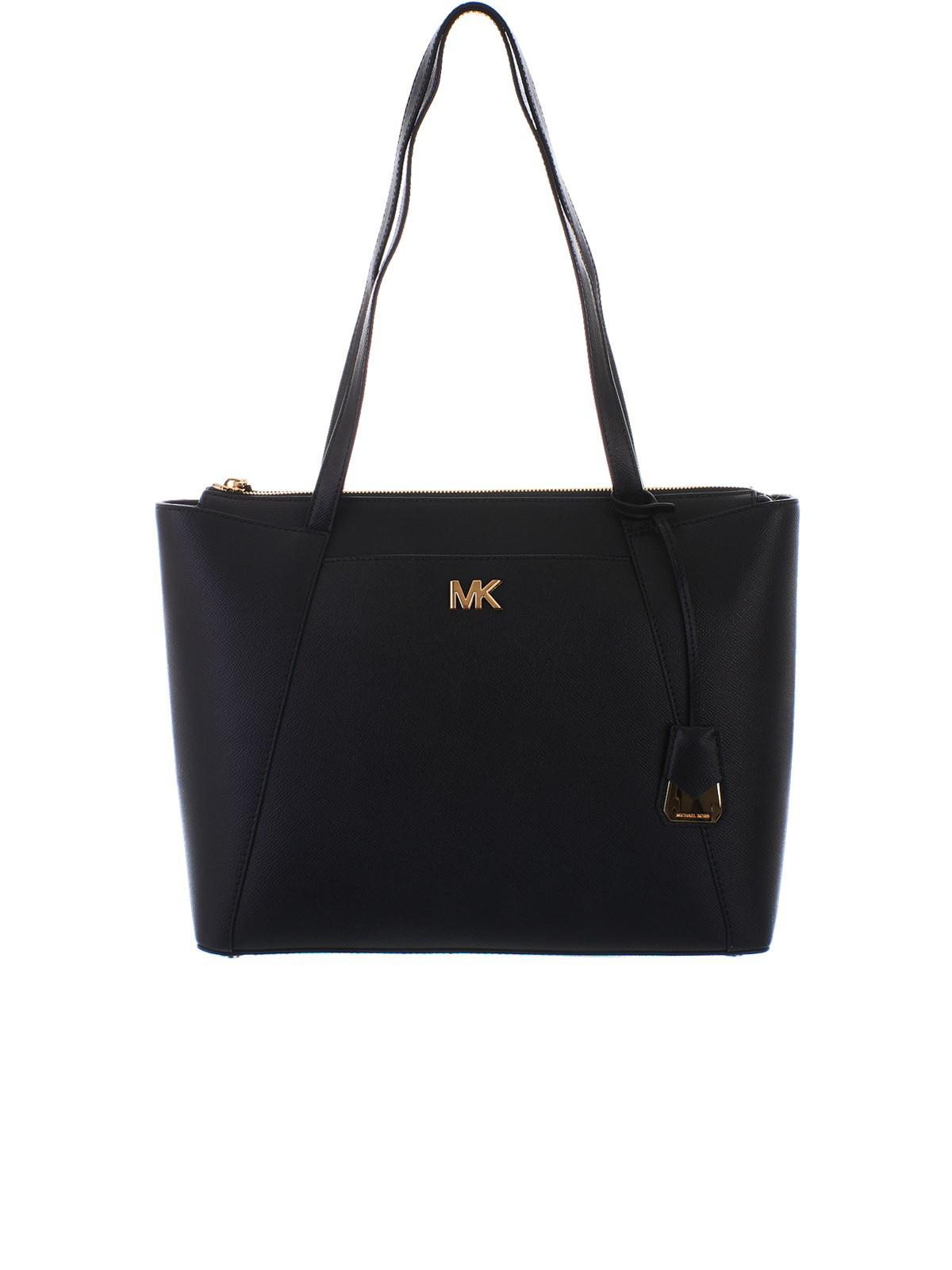 c4e9e0c1858a Lyst - Michael Kors Black Medium Maddie Bag in Black