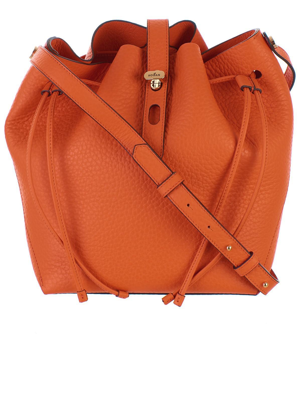 466c30f09f9 Hogan - Orange Bucket Bag - Lyst. View fullscreen