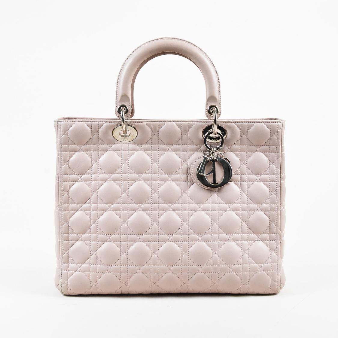 66dc1eedd817 Lyst - Dior Pink Lambskin