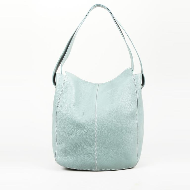 4b2b7f038df Tod's Blue Leather Hobo Bag in Blue - Lyst