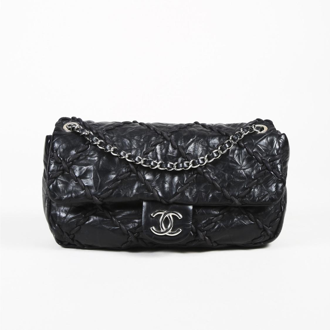 d4f1d9a552e9 Lyst - Chanel Black Quilted Leather Jumbo