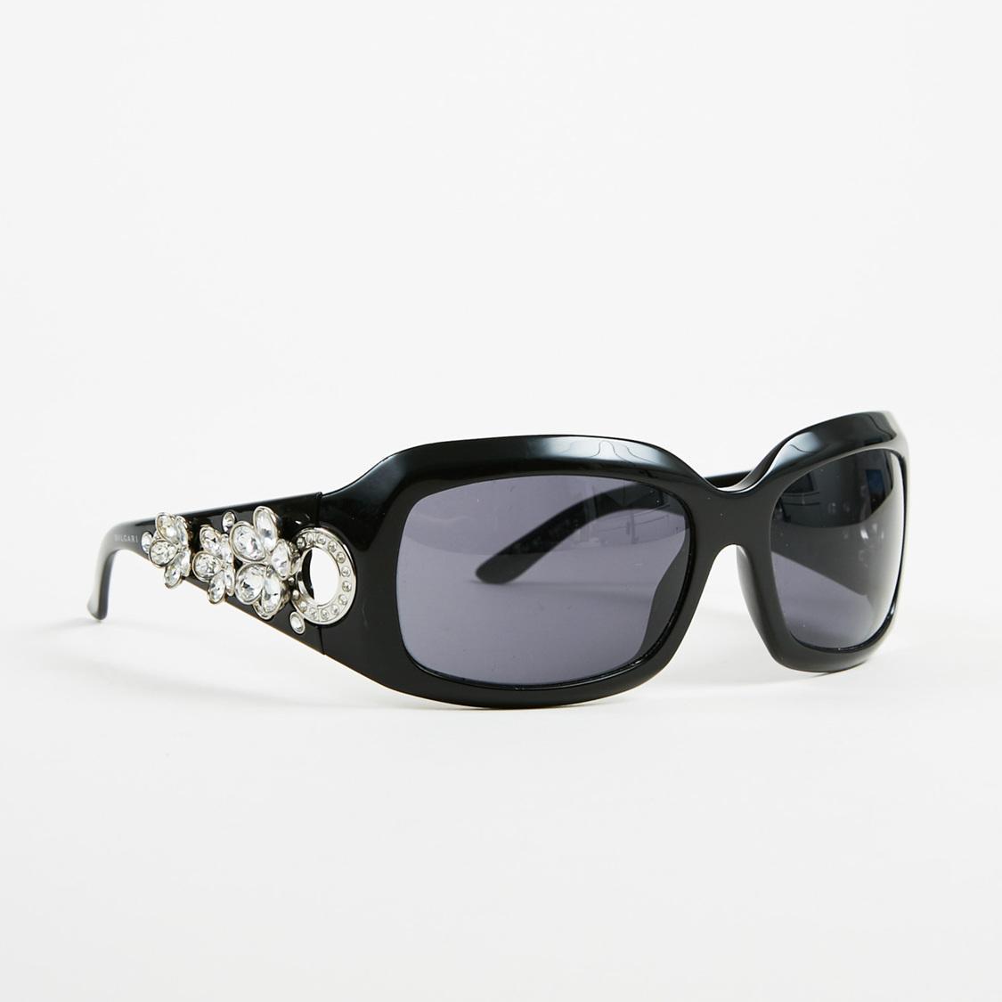 8af85d7034 Lyst - Bvlgari Black Swarovski Crystal Embellished Oversized ...