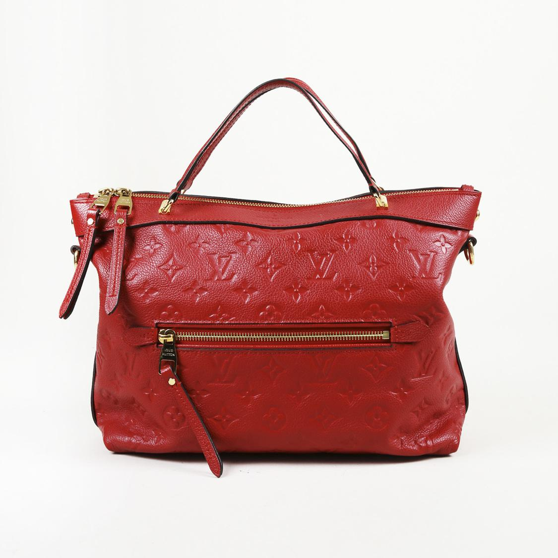 Lyst - Louis Vuitton Red Monogram Leather