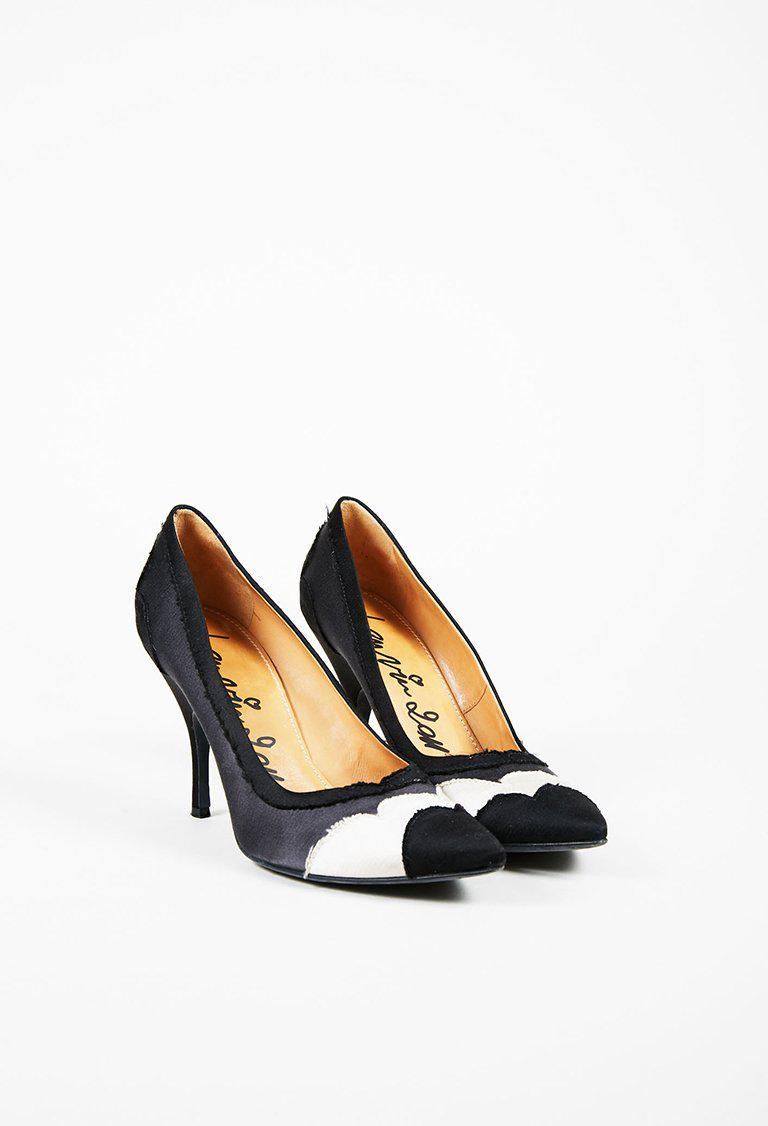 Lanvin Pointed-Toe Satin Pumps buy cheap prices sale fake cxdcGc