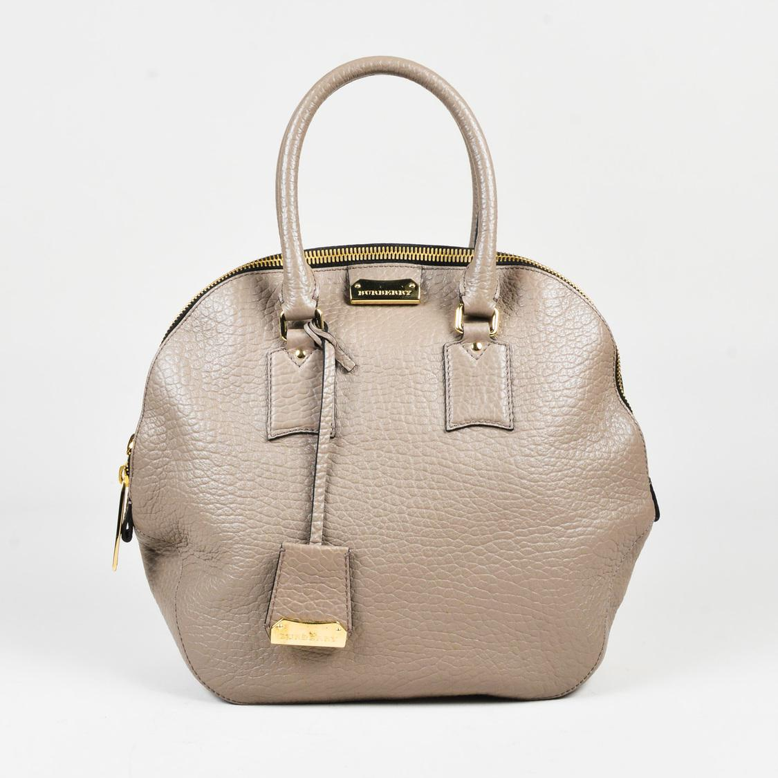 eb579b9a9479 Burberry. Women s Gray Taupe Grained Leather Medium