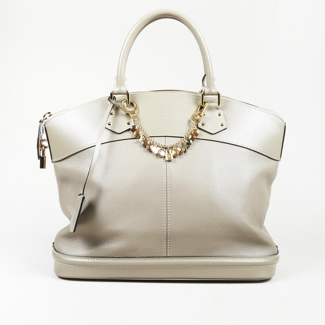 92fd82ebd47a Lyst - Louis Vuitton Lockit Leather Handbag in Gray