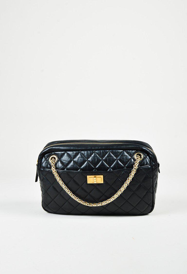 c8d194ea30cc Chanel Black & Gold Tone Aged Calfskin Quilted Medium