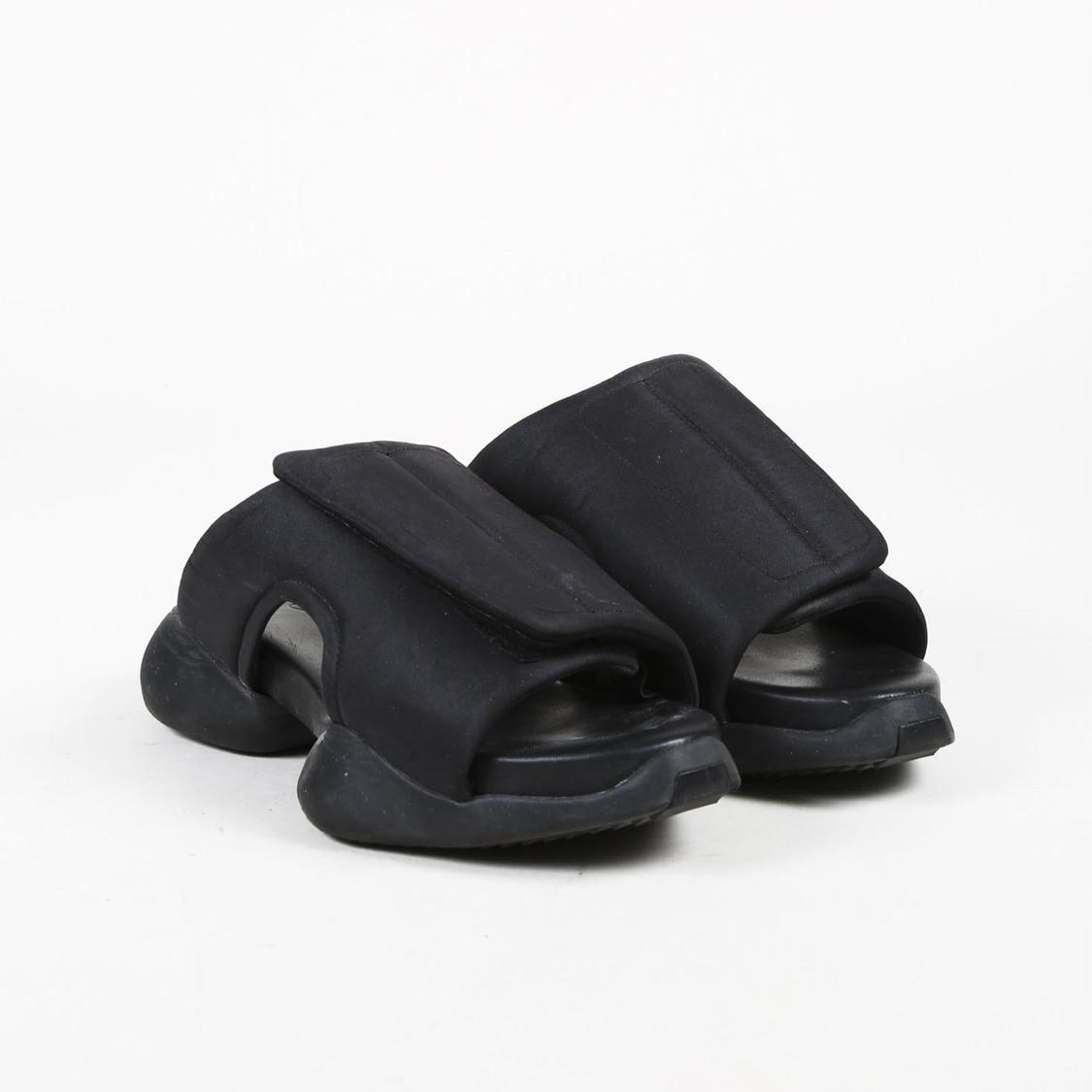 ae6db068c8bf Lyst - Rick Owens Black Nylon   Leather Clog Sandals in Black