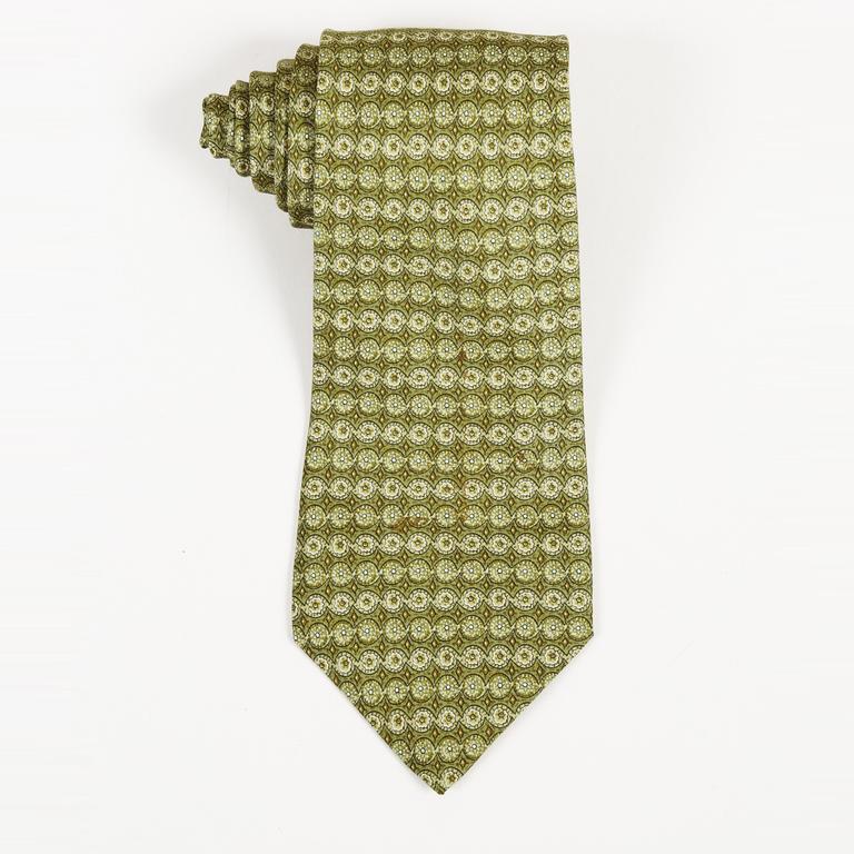 88b1ba9ee783 Hermès Green Silk Tie Men's in Green for Men - Lyst