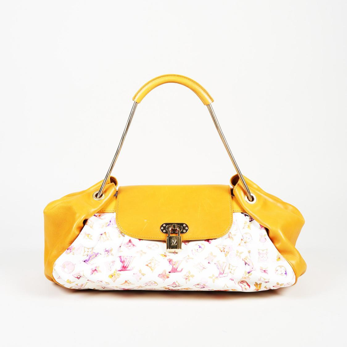 29a2ffe75748 Louis Vuitton. Women s Yellow Limited Edition Monogram Watercolor