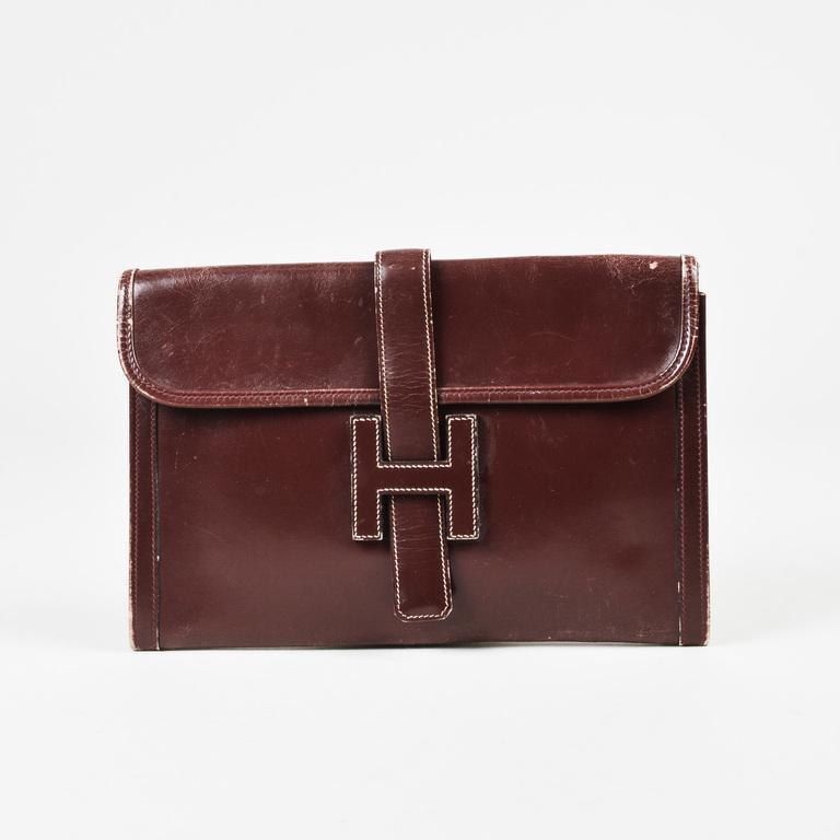 7ae79ebd3715 Hermès Vintage Rouge H Red Box Calf