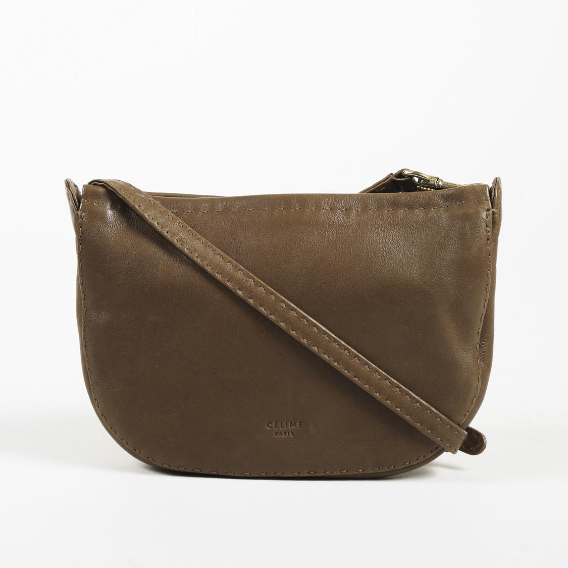 Céline Gold Sand Croissant Pouch Shoulder Bag Sz  Mini in Brown - Lyst 01352b9aa3c20