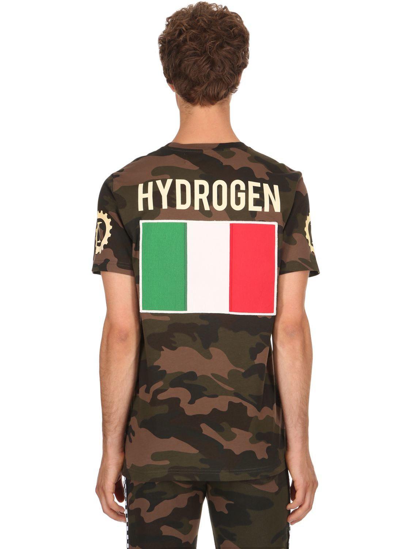 Hydrogen GARAGE ITALIA LOGO COTTON JERSEY T-SHIRT h0rqspvR3R