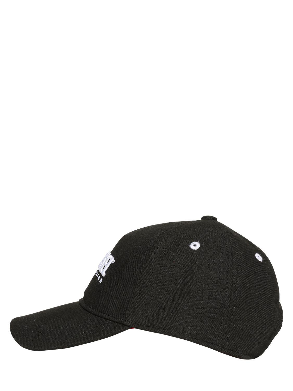 1fb9a2a2980 DIESEL - Black 90 s Logo Twill Baseball Hat for Men - Lyst. View fullscreen