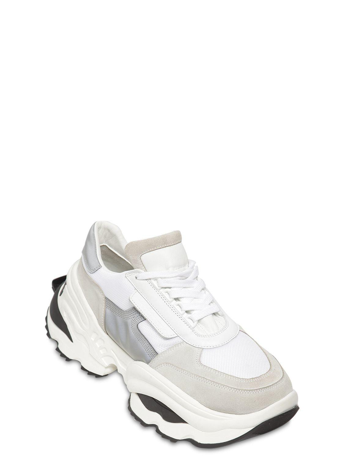 31c38e8fde6b01 Lyst - DSquared² The Giant Hike Chunky Leather Sneakers in White for Men