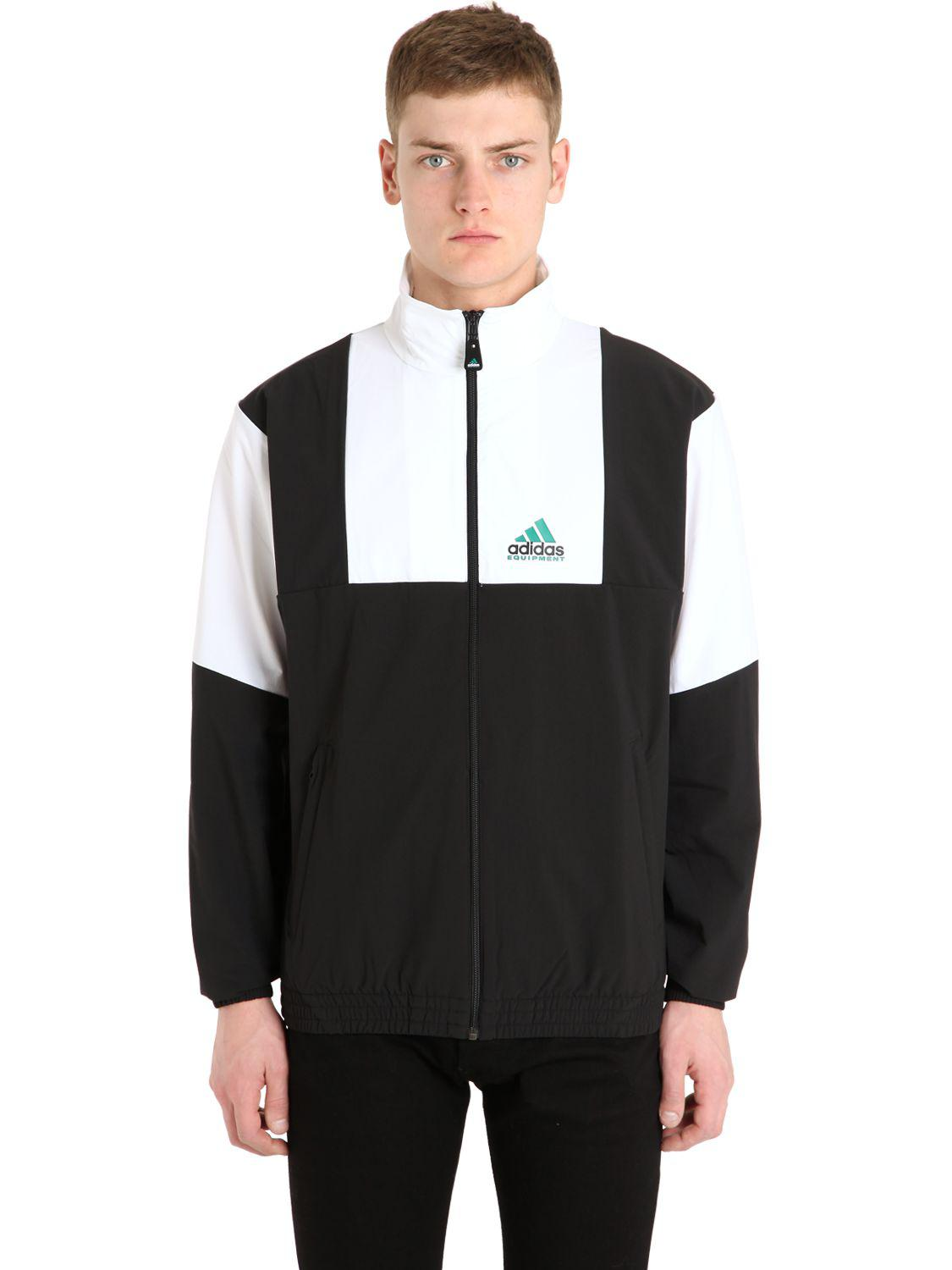 b39bfe1e49ae adidas Originals Eqt Waterproof Stretch Nylon Jacket in Black for ...