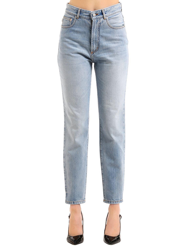 Fiorucci. Women's Blue Tara Classic Tapered Denim Jeans