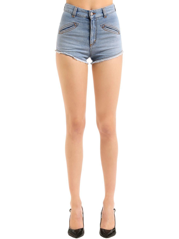 Womens Foxe Denim Cutoff Shorts Fiorucci RLO6Xci