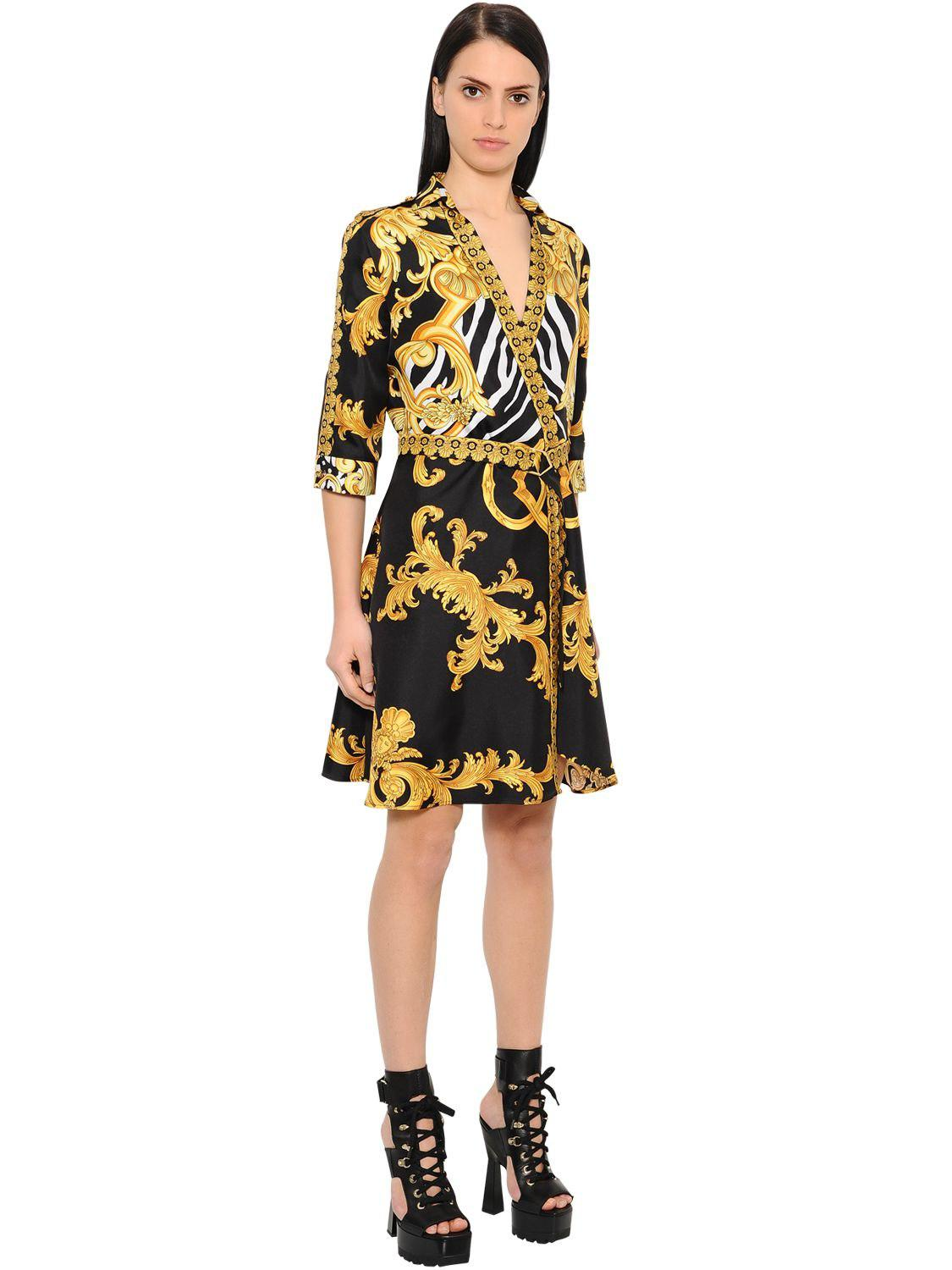 Free Shipping Best Sale Printed dress Versace Cheap Extremely Sale Get To Buy vfa9QXtV76