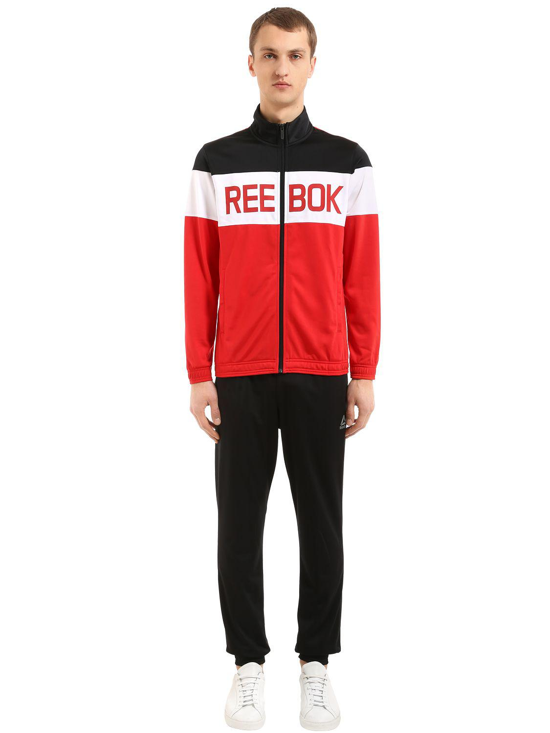 092dff11c5f1 Lyst - Reebok Elements Nylon Tracksuit in Red for Men