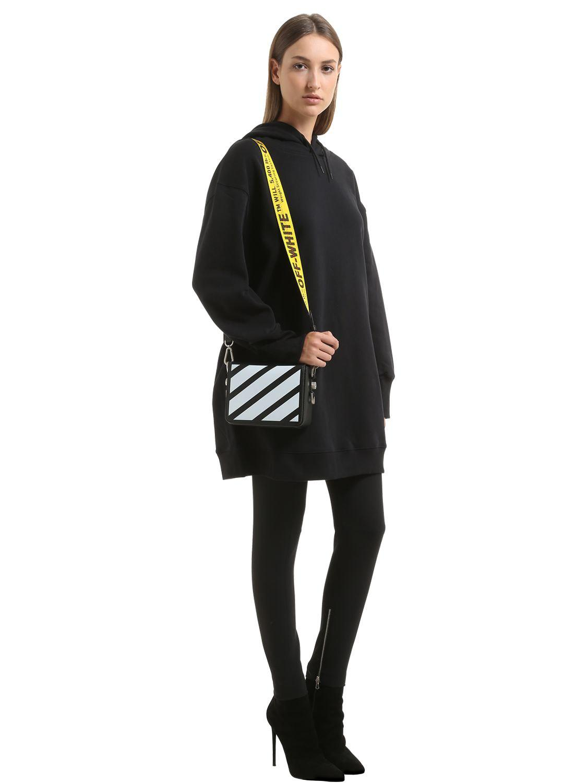Lyst - Off-White c o Virgil Abloh Binder Clip Striped Leather ... e4c7bb604a879