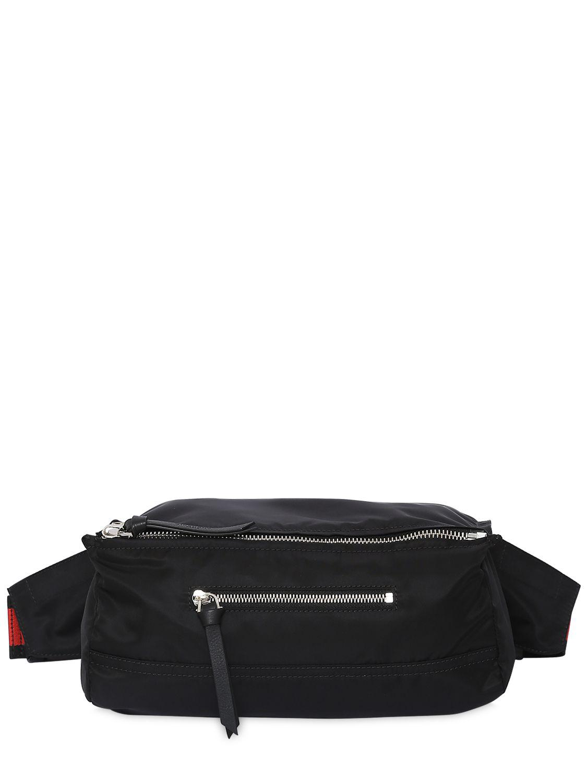 97b817302a99 Lyst - Givenchy Pandora Light Nylon Belt Pack in Black for Men