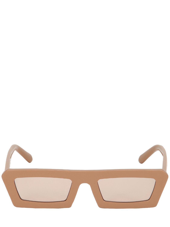 5c43a8a8b655 Karen Walker Shipwrecks Caramel Square Sunglasses in Natural - Lyst