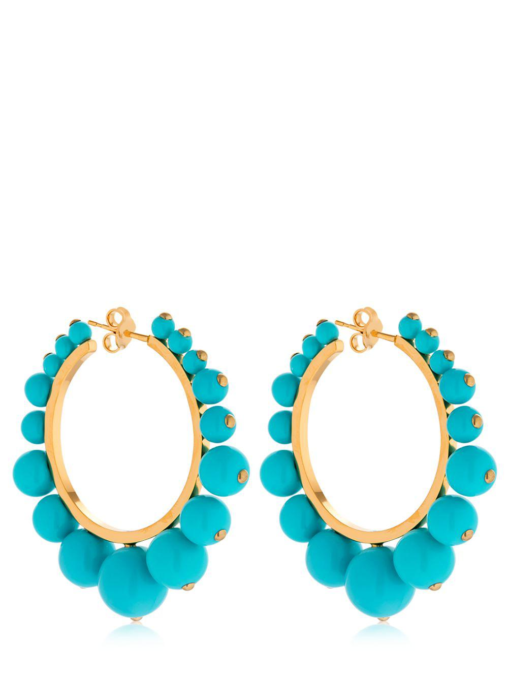 Ana Small Earrings in Coral Color Pearls and 18K Gold-Plated Brass Aur kqNOekrSuV