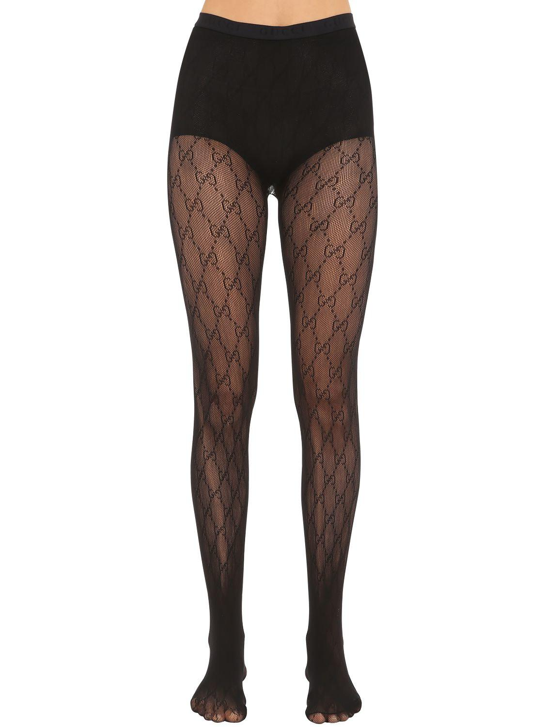 1f3b10a79b Gucci Gg Supreme Stockings in Black - Lyst