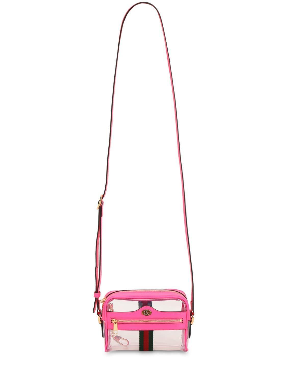 3f773a80d Gucci - Pink Mini Ophidia Ghost Vinyl Shoulder Bag - Lyst. View fullscreen