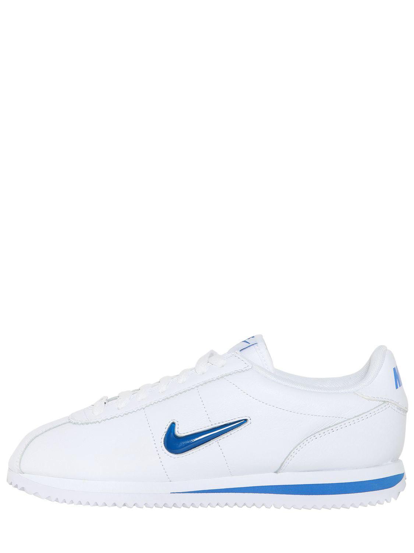 lyst nike cortez (jewel 18 scarpe bianche