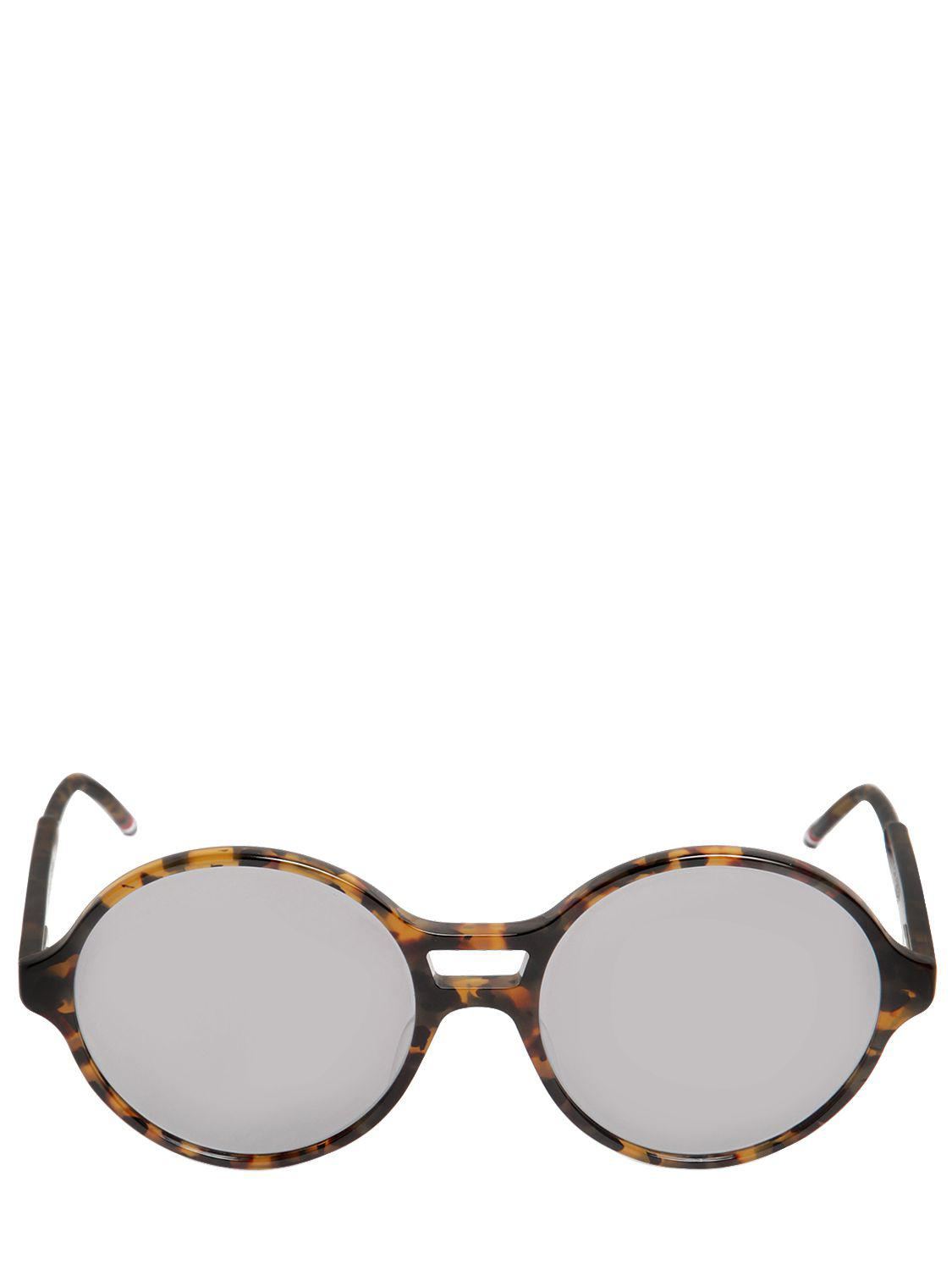 e84d7e34688 Lyst - Thom Browne Tokyo Acetate T-shell Round Sunglasses in Brown