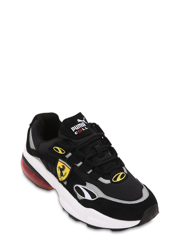 1cb2154c928898 Puma Select - Black Sf Cell Venom Mesh   Suede Sneakers for Men - Lyst.  View fullscreen