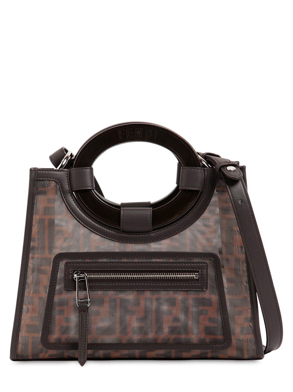 c135ae8d1de4 Fendi Runaway Logo Printed Canvas  Leather Bag in Brown - Save ...