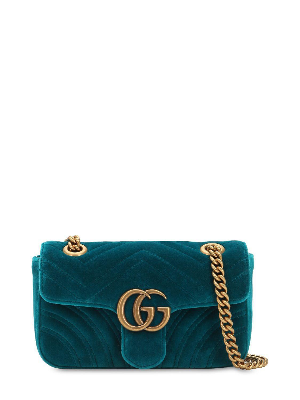 367e03a578d Gucci. Women s Mini Gg Marmont 2.0 Velvet Shoulder Bag