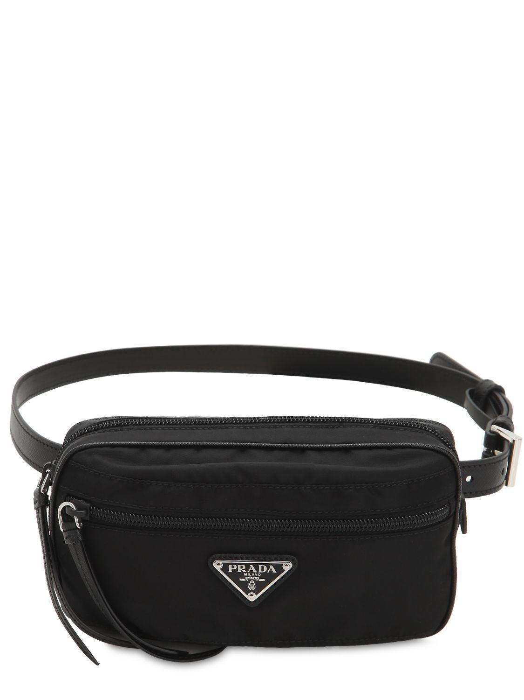 Prada - Black Nylon Belt Bag - Lyst. View fullscreen 42a4af2d792e0