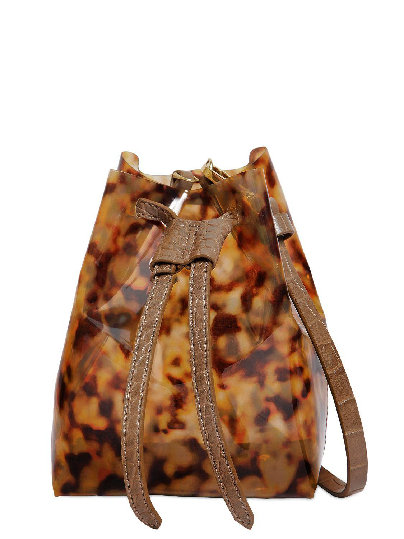 bd23ac11fc7f Nanushka Tortoise Print Plastic Shoulder Bag in Brown - Lyst